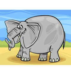 funny elephant cartoon vector image vector image