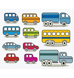 Set of cars icons vector image