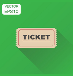 ticket icon business concept admit one ticket vector image