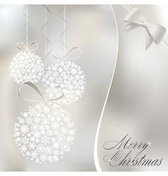 abstract christmas balls vector image