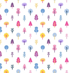 Colorful abstract trees seamless pattern vector image vector image