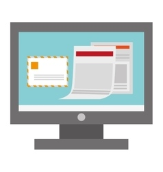 computer envelope documents vector image