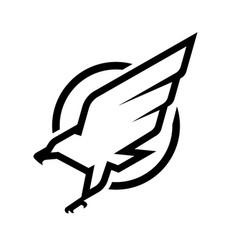 eagle logo emblem monochrome logo vector image vector image