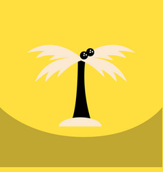 Flat icon design collection palm tree vector