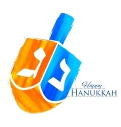 Happy Hanukkah Jewish holiday background with vector image vector image
