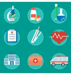 medical concept set of icons vector image vector image