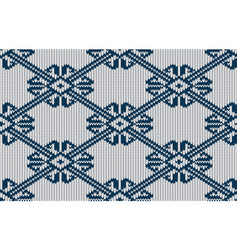 norwegian knitted pattern on a white background vector image