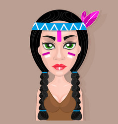 american indians woman vector image