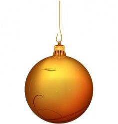 gold Christmas ball vector image vector image