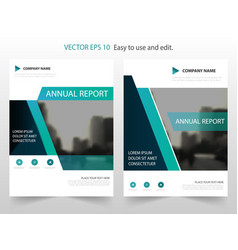 green annual report brochure flyer design vector image vector image
