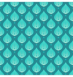 Pattern with bright blue drops on a dark blue vector image