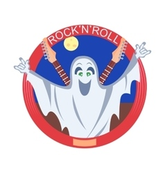 Rock And Roll Ghost vector image