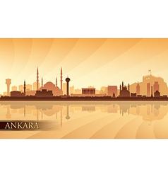 Ankara city skyline silhouette background vector image vector image