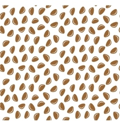 Cedar nuts seamless pattern background vector image