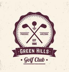 golf club vintage logo emblem badge vector image vector image