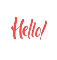 Hello Hand Written Design Custom lettering vector image vector image