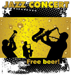 Jazz concert free beer wallpaper vector image vector image