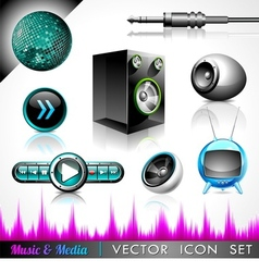 music and media vector image