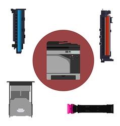 Print equipment vector image
