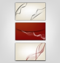 Style of business card vector image vector image