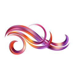 abstract background with color fantastic waves and vector image