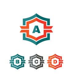 abstract geometric monogram logo concept vector image