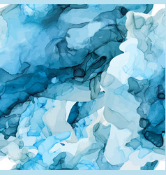Alcohol ink seamless pattern hand drawn texture vector