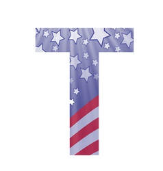 american letter T vector image