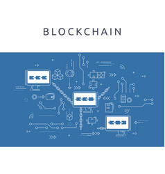 blockchain technologie process abstract vector image