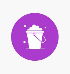 Bucket cleaning floor home vector