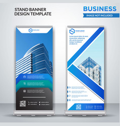 business roll up banner design vector image