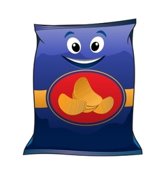 Cartoon potato chips vector