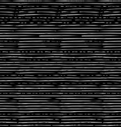 Chalk seamless pattern of horizontal thin brush vector image