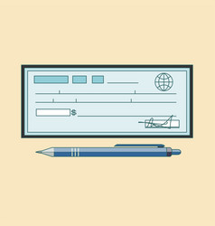 Cheque icon theme flat style colorful vector