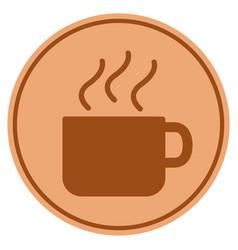 Coffee cup bronze coin vector