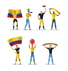 Colombia football fans vector