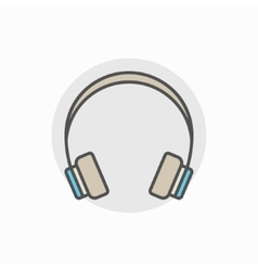 Colorful headphone icon vector