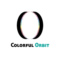 Colorful orbit logo vector image