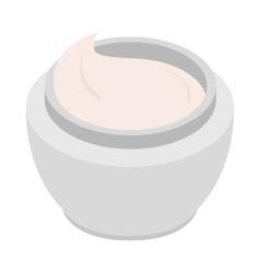 Cream icon isometric 3d style vector