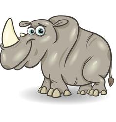 Cute rhinoceros cartoon vector