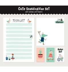 Cute Summer Scandinavian Set vector image