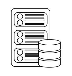 Data base center server hosting network icon vector