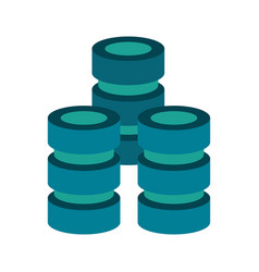 Databases web hosting icon image vector