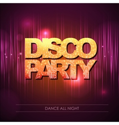 Disco background party vector