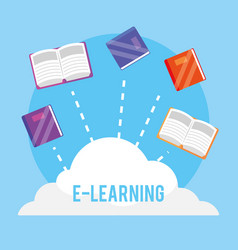 Elearning education book to profession study vector
