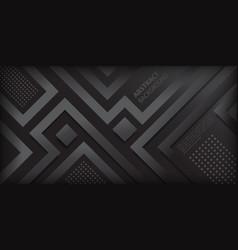 elegant dark gradient with geometric shapes vector image