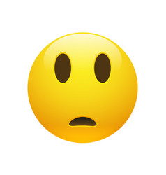 Emoji yellow sad confused face vector