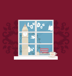 europe london view window vector image
