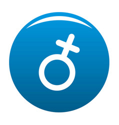 female gender symbol icon blue vector image