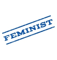 Feminist Watermark Stamp vector